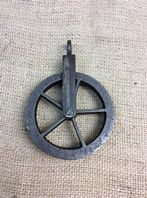 "Antique Iron 5"" Pulley Wheel"